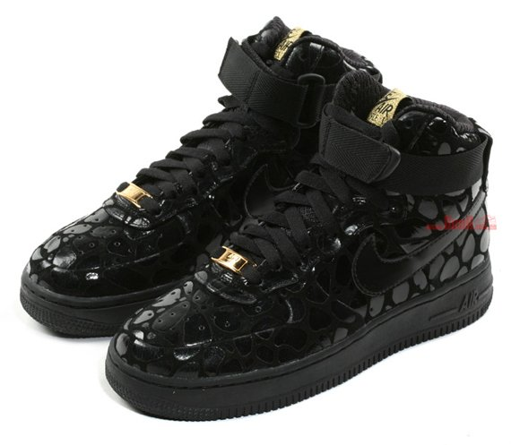 Nike Air Force 1 High Supreme Le Women S Black Metallic Gold