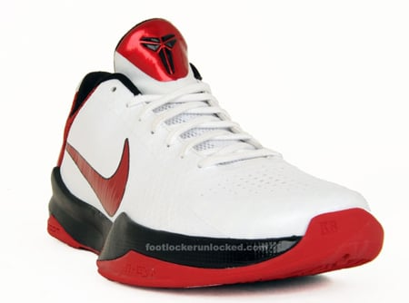 sneakers for cheap 2db13 c1907 Nike Zoom Kobe V (5) - White / Varsity Red - Black ...