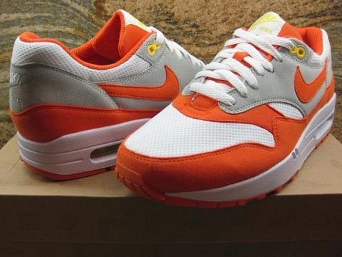 Nike Air Max 1 WhiteOrange Blaze Grey Sample on eBay