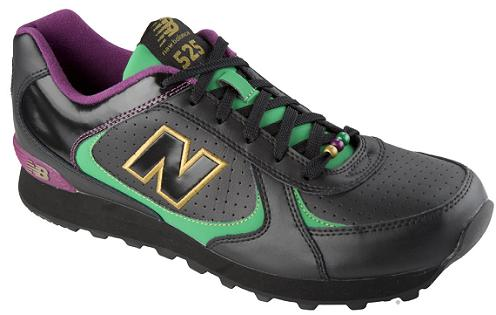 new style e15a9 e4bc5 New Balance has very fittingly began making available the shoes that make  up the brand s Mardi Gras Collection. Following the New Orleans Saints   superbowl ...