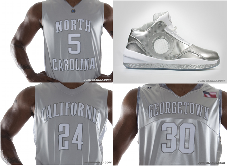 Jordan Brand Silver Anniversary 2010 PE & College Uniforms