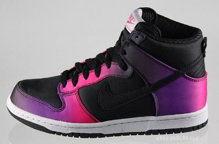 Nike Women's Dunk High Premium - Black / Purple - Pink