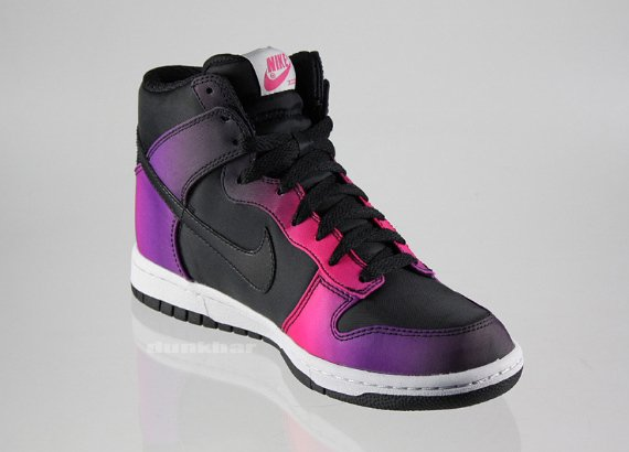 Nike Women's Dunk High Premium - Black / Purple - Pink