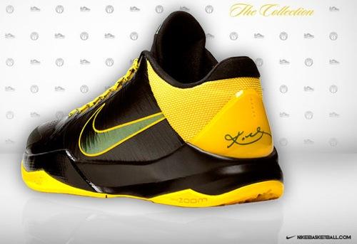 5c090f5f1fa0 Nike Zoom Kobe V LE Black Deep Forest-Varsity Maize