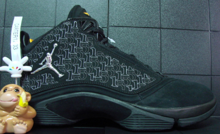Air Jordan Melo M5 Unreleased Sample - Black / Metallic Silver