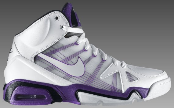 Nike Air Hoop Structure FA (Flywire) - White / Purple - Black