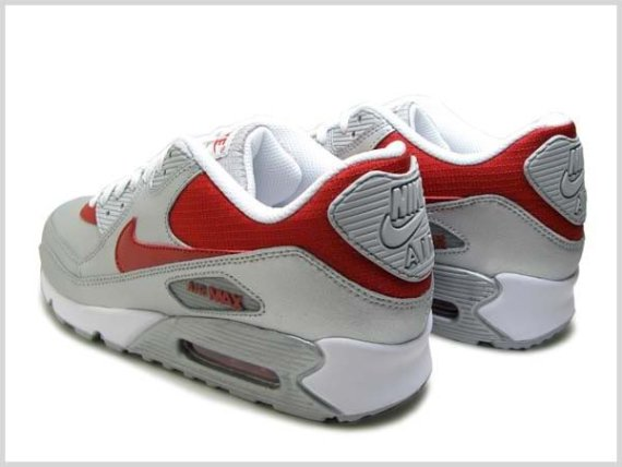 Nike Air Max 90 - Metallic Silver / Varsity Red - White