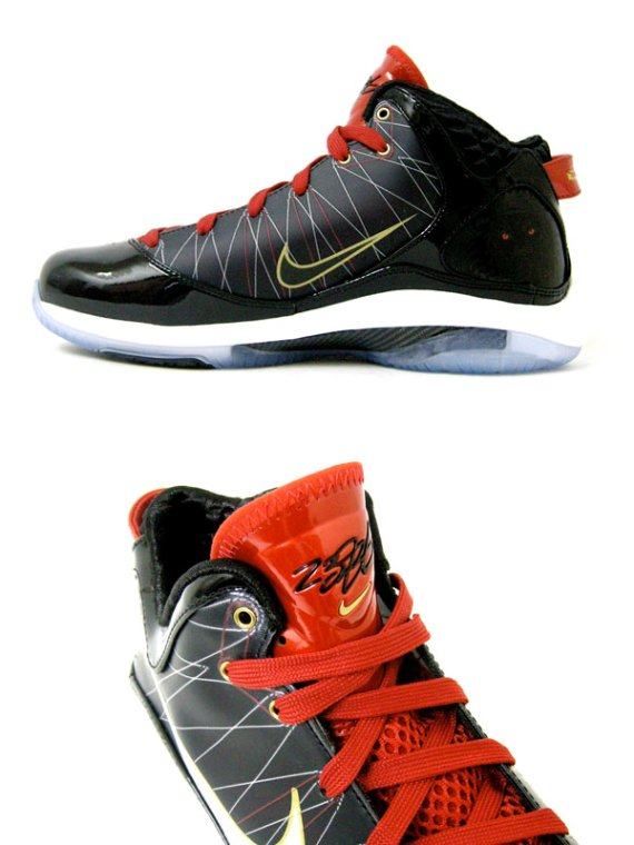 Nike Air Max LeBron VII (7) P.S. - Black / Red - Gold