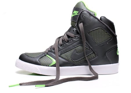 Nike Auto Flight High - Grey / Electric Green - White
