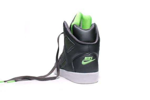 Nike Auto Flight High - Grey / Electric Green - White