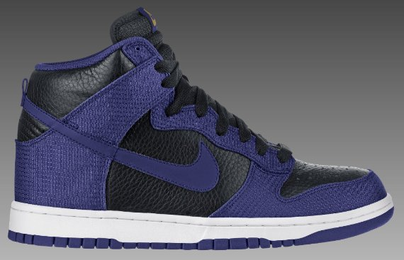 Nike Dunk High - Black / Wicked Purple – Metallic Gold