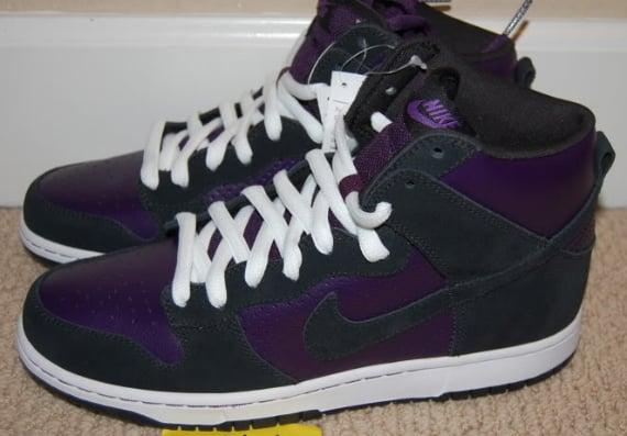 "Nike SB Dunk High ""Sacramento Kings"" - Purple / Black - White"