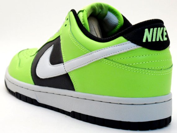 Nike Women's Dunk Low - Electric Green / Black - White