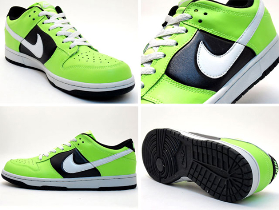 Nike Women's Dunk Low - Electric Green / Black - White