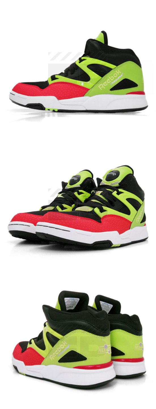 Reebok Pump Omni Lite - Black / Citron - Red - White