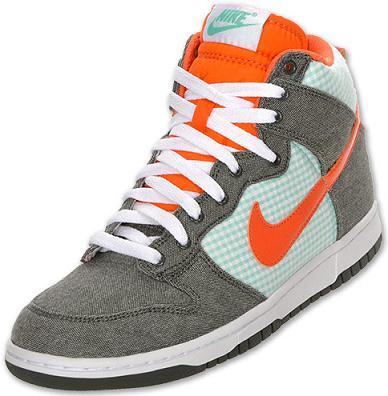 NikeDunkHighArmyOrange1