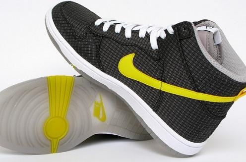 best service b561a 8fcc5 Women s Nike Dunk High Skinny – Black Speed Yellow-White