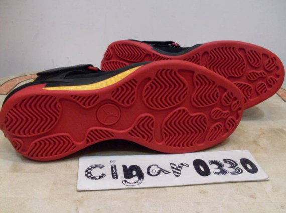 Air Jordan 2010 Outdoor Sample - Black / Maize - Red