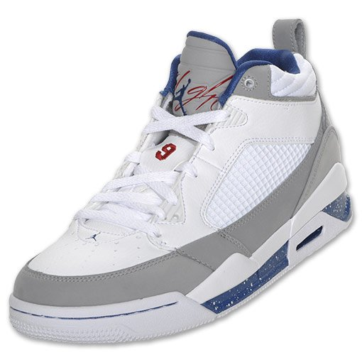 Air Jordan Flight 9 - White / True Blue - Stealth - Varsity Red