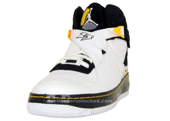 Air Jordan Fusion VII (8) - White / Black - Varsity Maize