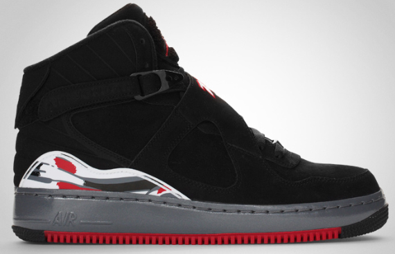 707e601c5ed708 Air Jordan Fusion VIII (8) - Black   Varsity Red - Flint Grey ...