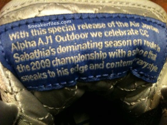 Air Jordan I (1) Alpha Outdoors - CC Sabathia PE