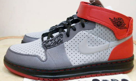 Air Jordan I (1) Alpha Outdoors Sample - Silver / Black - Red