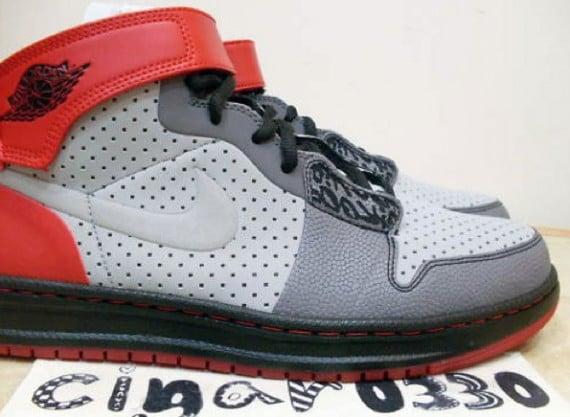 Air Jordan I (1) Alpha Outdoors Sample - Silver / Black - Red