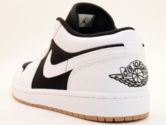 Air Jordan I (1) Phat Low - White / Black - Varsity Red