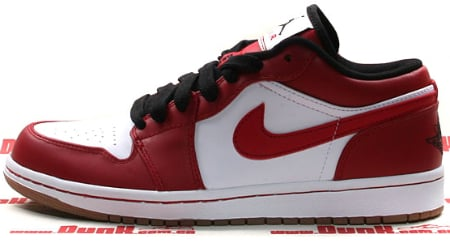 Air Jordan I (1) Phat Low - White / Varsity Red - Black - Gum