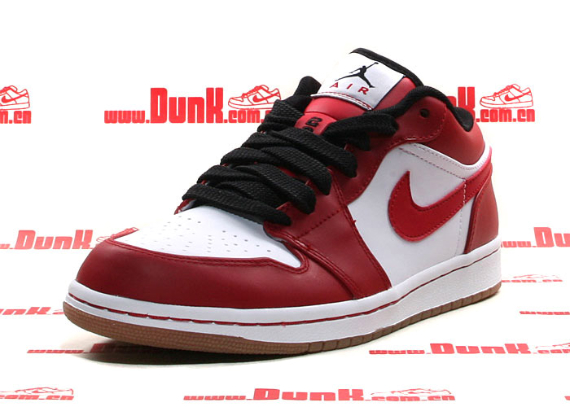 Air Jordan I (1) Phat Low - White / Varsity Red - Black - Gum