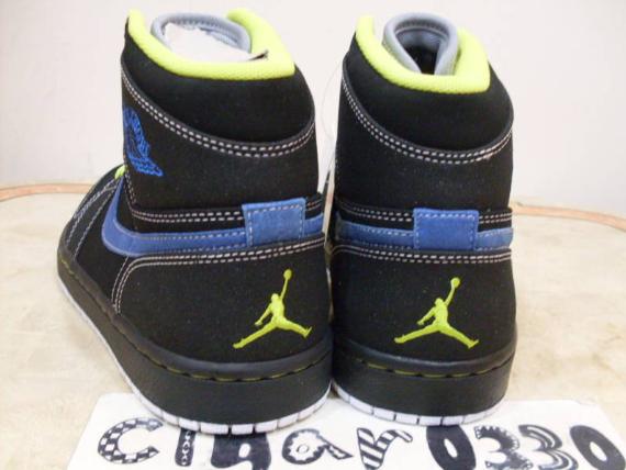 Air Jordan I (1) Retro High Sample - Black / Cyber - Blue Sapphire