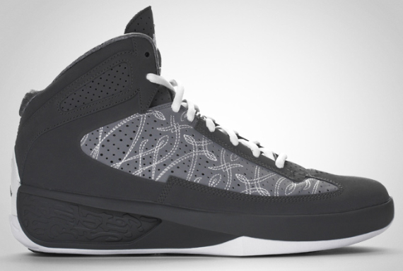 Air Jordan Icons - Light Graphite / Stealth - White