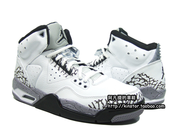 Air Jordan Rare Air - White / Black - Cement