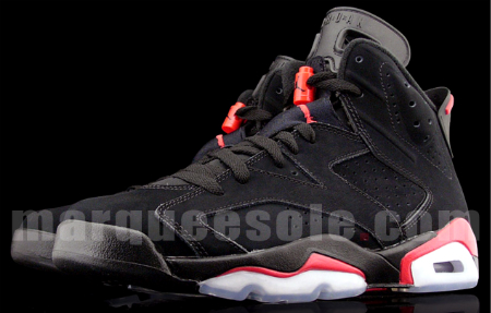 Detailed Look: Air Jordan VI (6) Retro - Black / Infrared