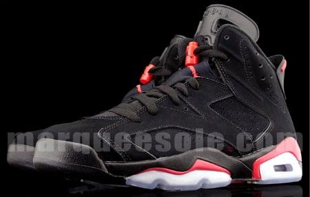 Detailed Look: Air Jordan VI (6) Retro - Black / Infrared