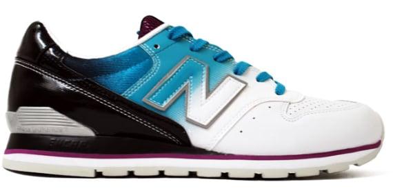 New Balance 996 - White / Blue & Purple / Silver