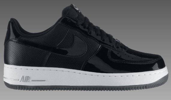 Nike Air Force 1 Low - Black / White - Metallic Silver