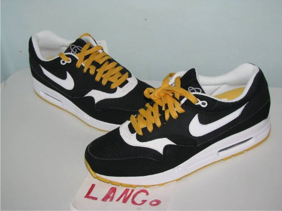 Nike Air Max 1 - Black / White - Yellow