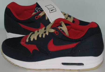 Nike Air Max 1 – Navy / Red – Gold