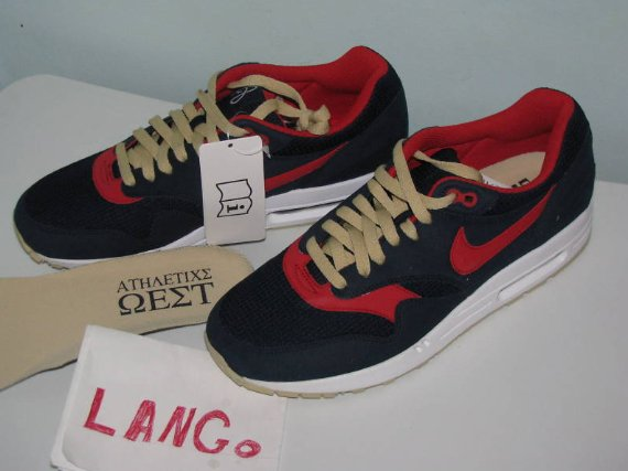 Nike Air Max 1 – Navy / Red – Gold