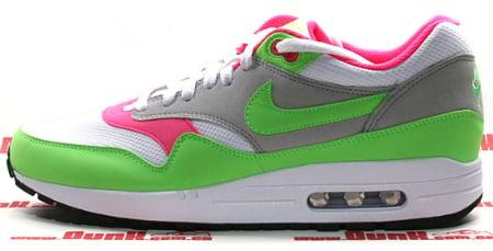 Nike Air Max 1 - White / Green - Grey - Pink
