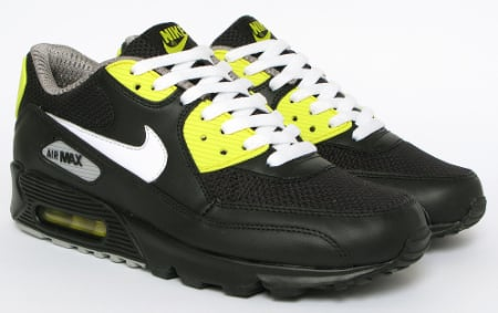 Nike Air Max 90 - Black  / White - Vibrant Yellow