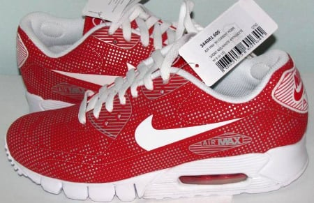Nike Air Max 90 Current Moire - Sport Red / White