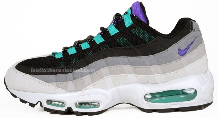 "Nike Air Max 95 ""Grape"" - Grey / Purple - Charcoal"