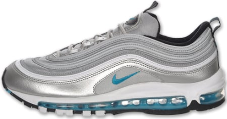 Nike Air Max 97 - Silver / Marina Blue - White