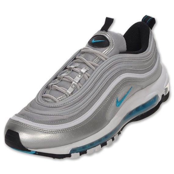 Nike Air Max 97 Silver / Marina Blue White SneakerFiles