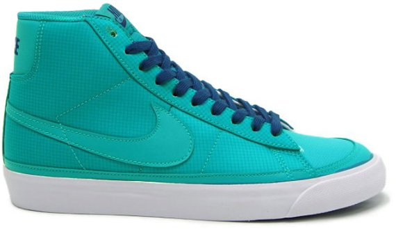Nike Blazer Mid - Turbo Green / White - Navy