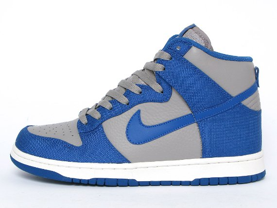 Nike Dunk High - Medium Grey / Team Royal - Gold