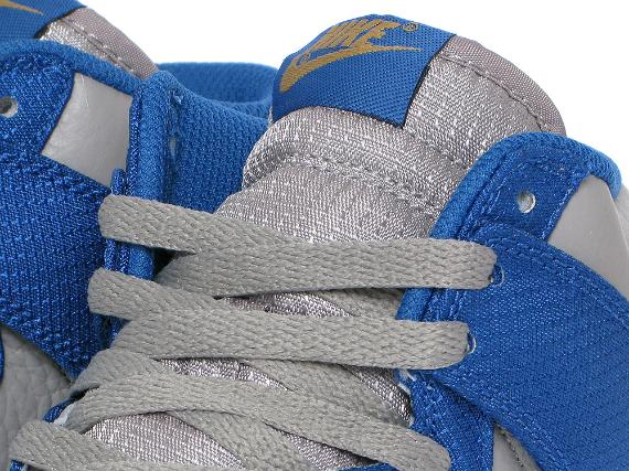 Nike Dunk High - Medium Grey / Team Royal - Gold